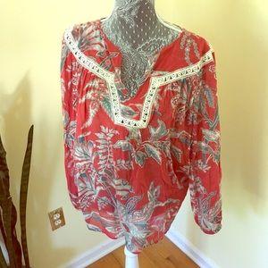 Gorgeous boho Ann Taylor loft shirt